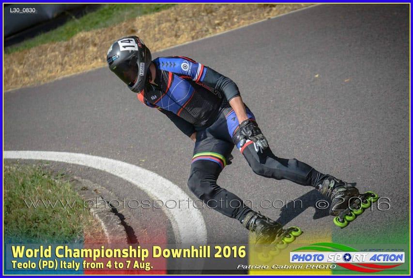 Sylvain Behr, vice-champion du monde de roller de descente