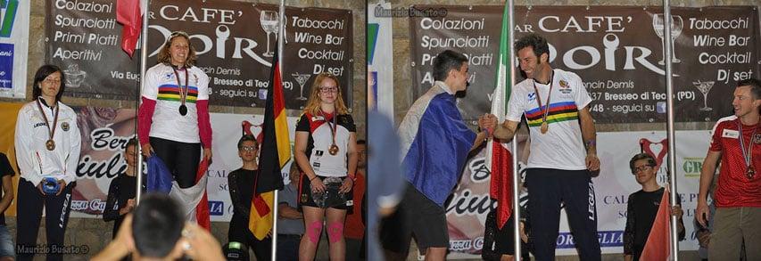 Podium des championnats du monde de roller de descente
