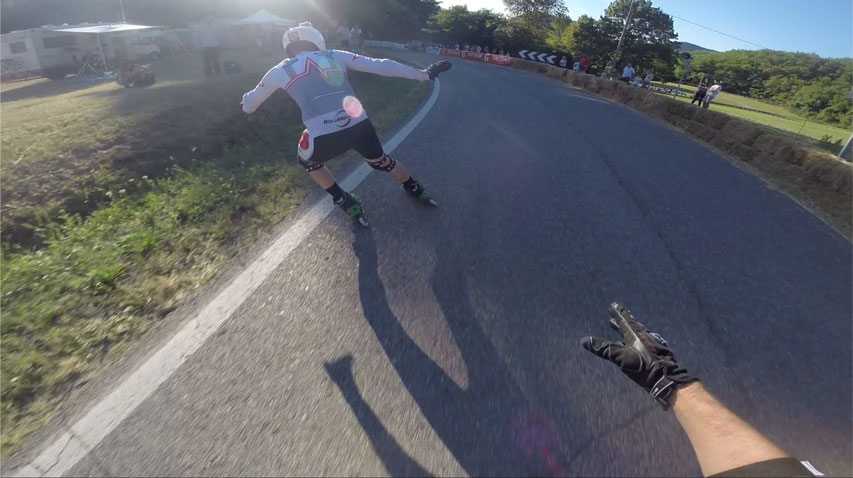 Inline Cross roller de descente