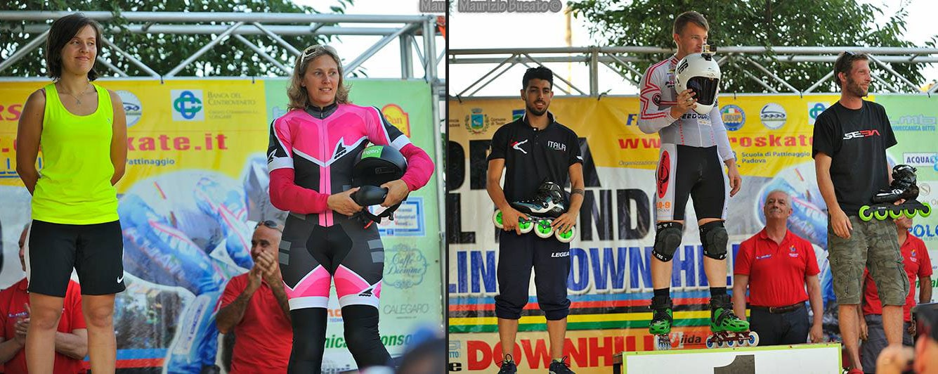 Podiums de l'Inline Cross roller de descente