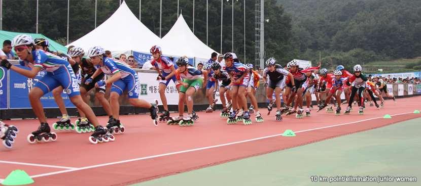 10 km à points et à élimination juniors dames sur piste