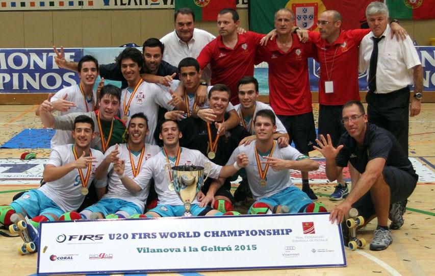 Portugal Champion du monde U20 de rink hockey 2015