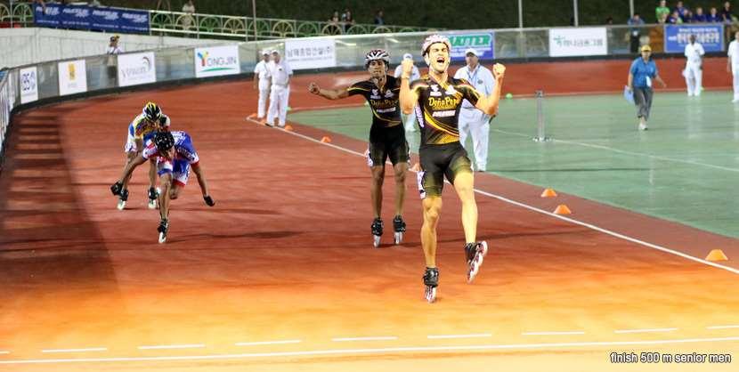 Finish 500 m senior men - championnat du monde 2011