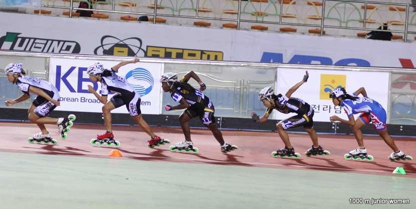 Juniors dames 1000 m