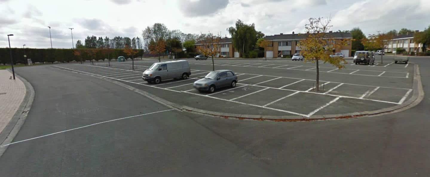 Vue d'une partie du circuit routier de Zanvoorde