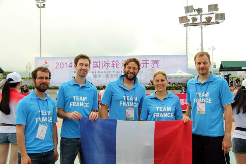 La team France de roller de descente