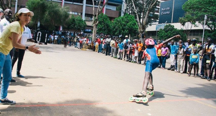 Nairobi à l'heure du roller !