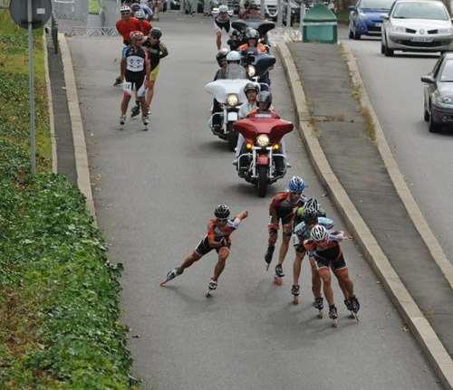 Le peloton de tête au Lugdunum Contest 2012