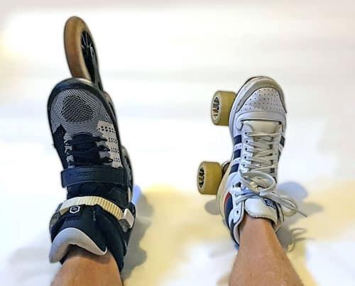 Patin en ligne et patin traditionnel