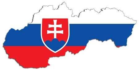 drapeau carte slovaquie