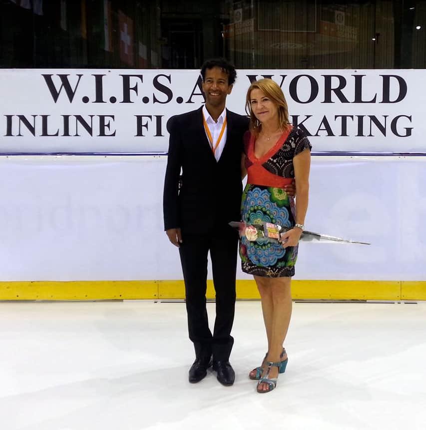 Elisabet Martin Mora avec Fernand Fedronic
