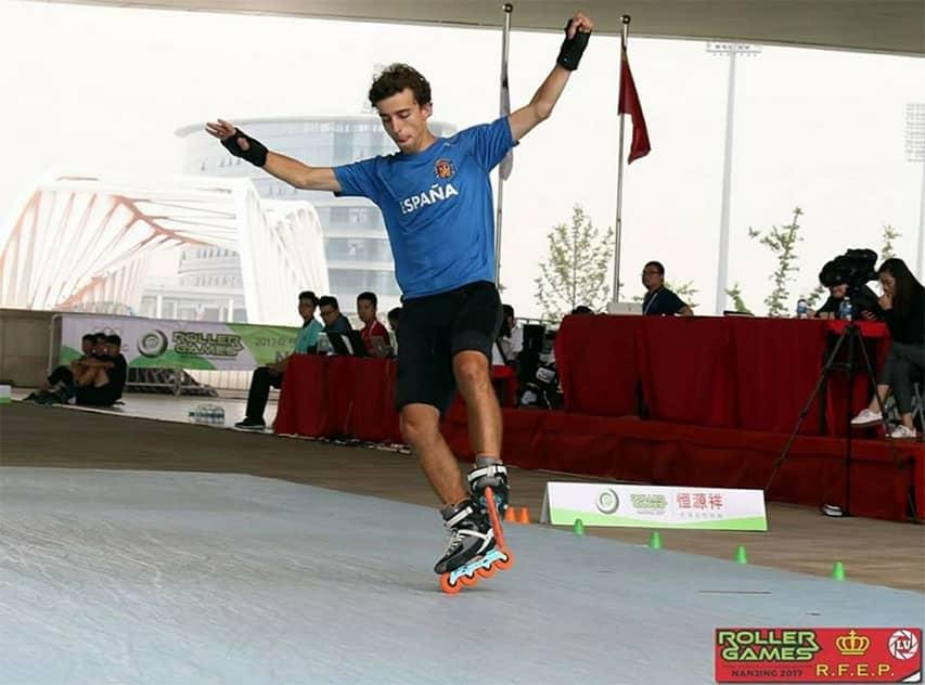 Enrique Rubio aux World Roller Games 2017