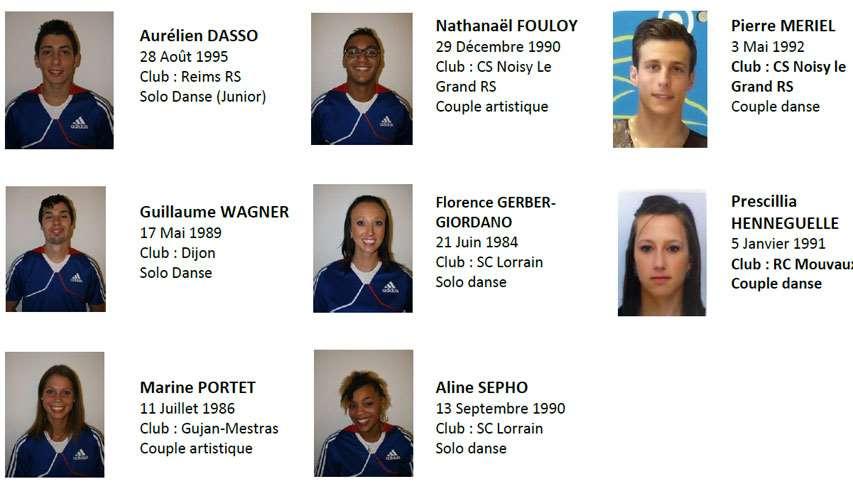 L'équipe de France de patinage artistique 2013