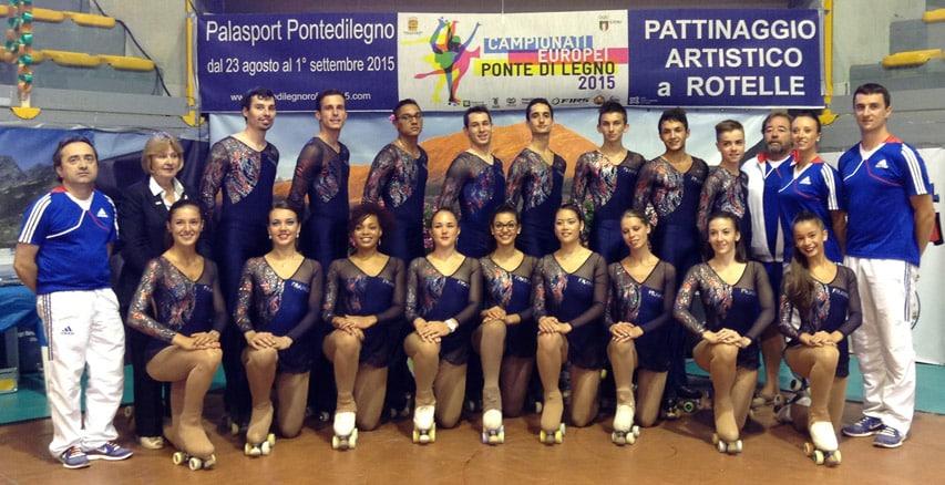 L'équipe de france de patinage artistique 2015