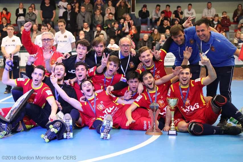 L'Espagne, vainqueure de la Coupe Latine de rink hockey 2018