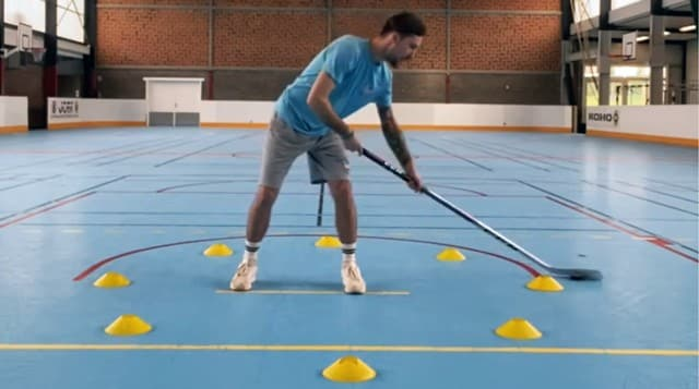 exercice horloge roller hockey small