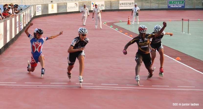 500 m junior ladies - championnat du monde 2011