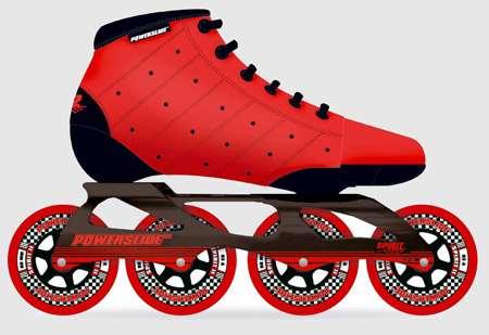 Un des premiers patins de vitesse de la marque