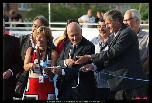 Inauguration de la piste de roller course de Zandvoorde