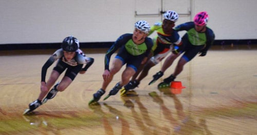 Indoor speed skating