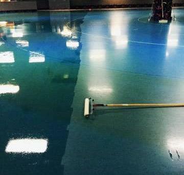 Coated floor