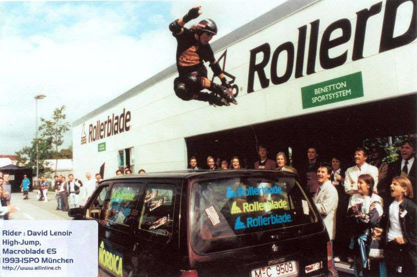 Démo Rollerblade avec David Lenoir en 1993