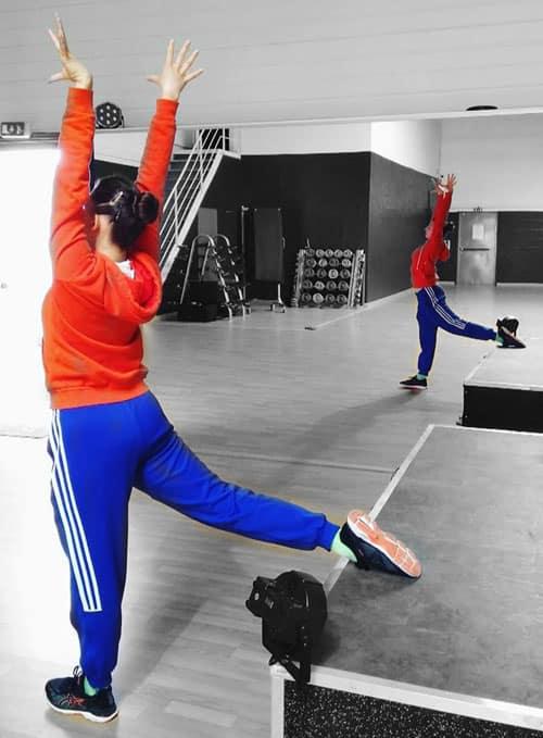 Sisters Ice à l'entraînement
