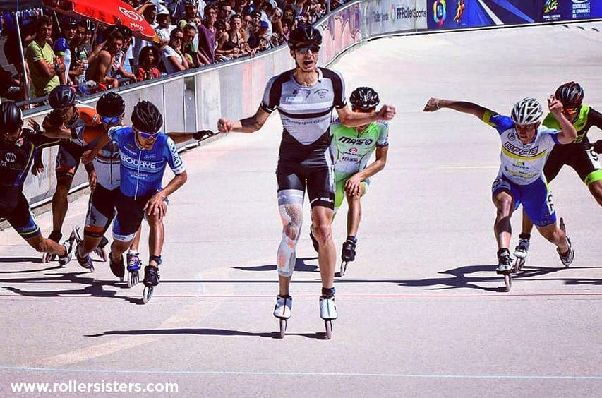 Timothy Loubineaud sur la piste de Valence d'Agen