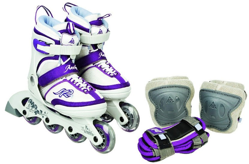 Roller K2 annika Junior avec son pack de protections