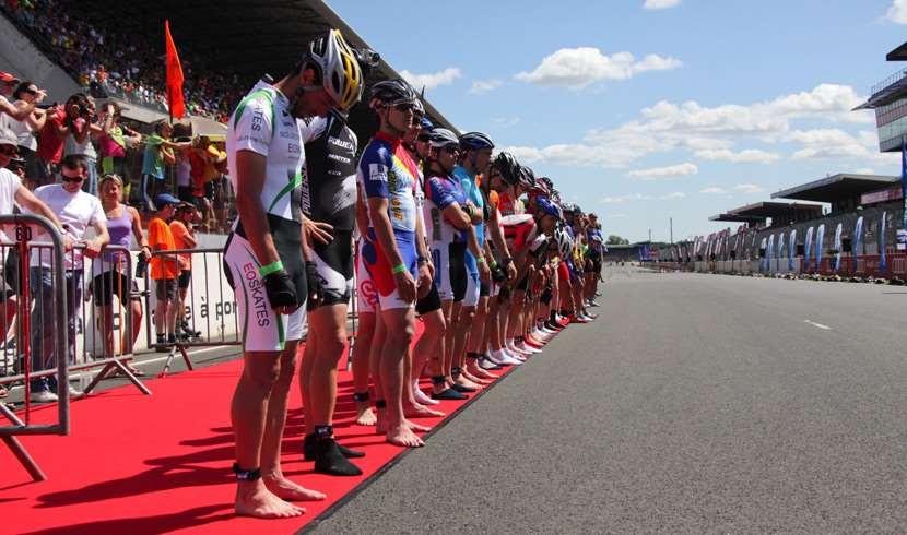 Ligne de départ des 24 Heures du Mans roller 2011