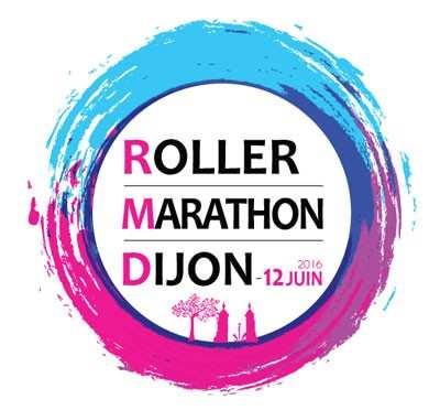 logo roller marathon dijon 2016