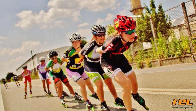 Marathon roller de Compiègne 2013 - peloton féminin