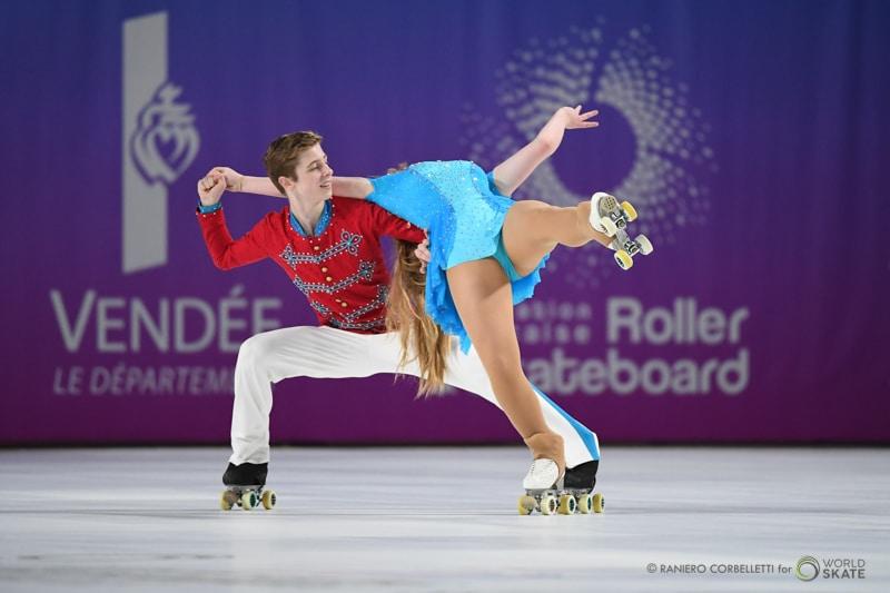 Couple Danse au mondial roller artistique 2018