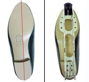 Marque des bottines pour un parfait alignement de la platine