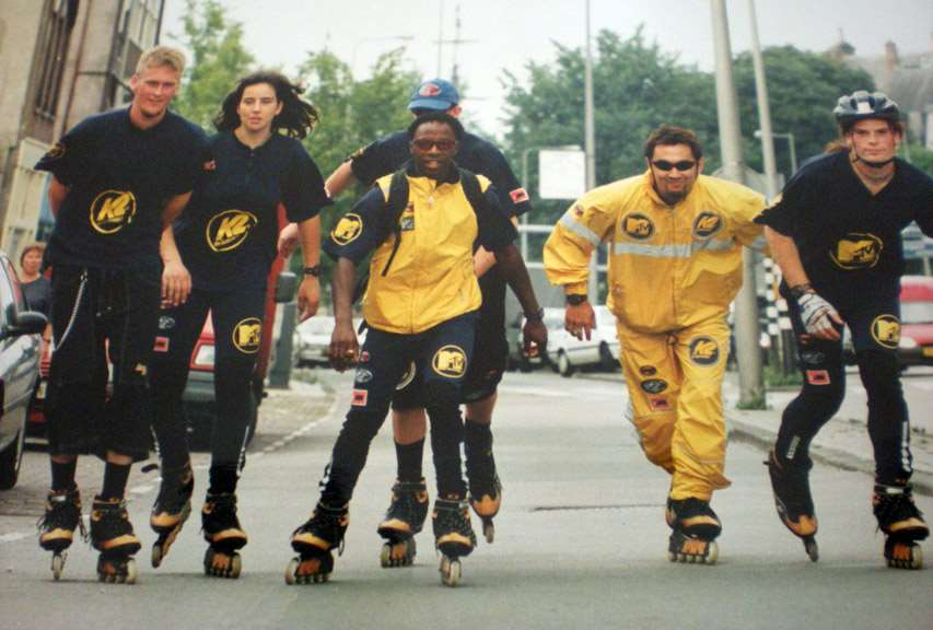 One Globe, one Skate à Amsterdam en 1997