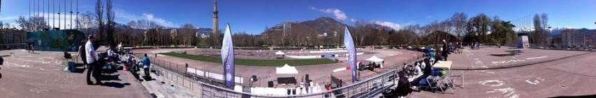 Panoramique de l'anneau de vitesse de Grenoble