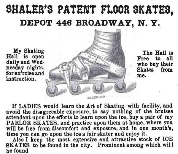 Parlor Skate de Shaler en 1860