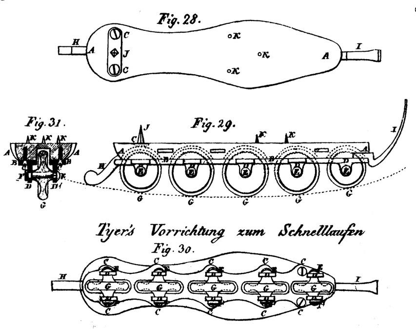 Présentation du patin de Tyers en 1824