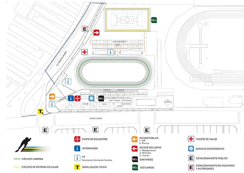 Plan de la piste de roller course de Rosario