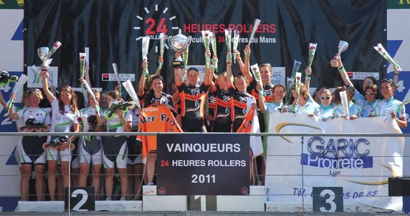Podium féminin des 24 Heures du Mans 2011