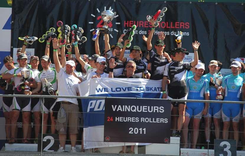 Podium masculin des 24 Heures du Mans 2011