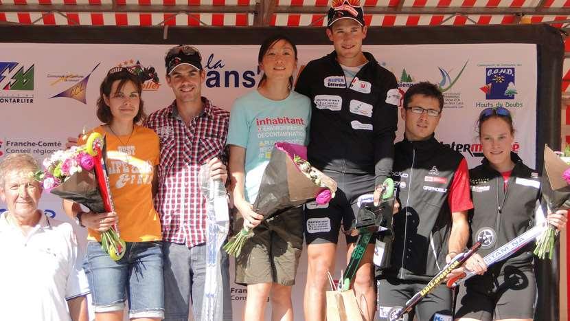 Le podium de la Montée du Larmont 2012