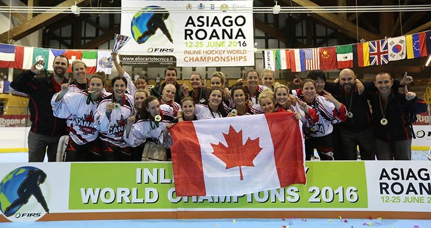 Les canadiennes, championnes du monde de roller hockey 2016
