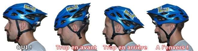 Les différentes positions du casque
