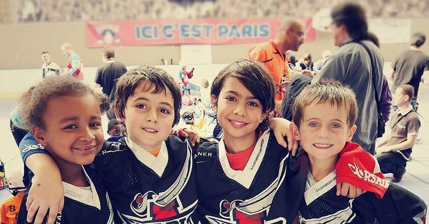 Des jeunes patineurs du club des Corsaires de Paris XIII