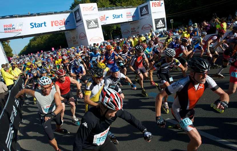 Départ du marathon roller de Berlin