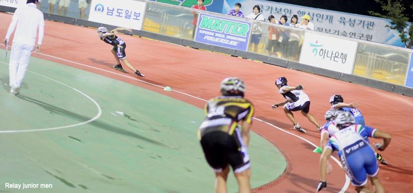 Les juniors hommes à Yeosu en relais