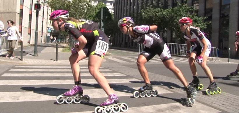Le peloton féminin en action à Rennes