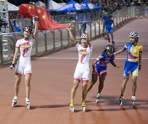 Guo Dan au centre (Chine)