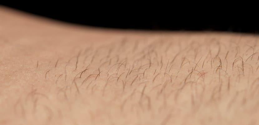 Surface de la peau après épilation